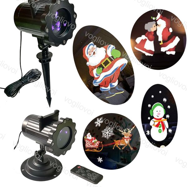 Projectors Lights Flash 4 Pattern Outdoor Laser Firefly Stage Lights Landscape RGB Christmas Garden Sky Star Lawn Lamps Controller DHL