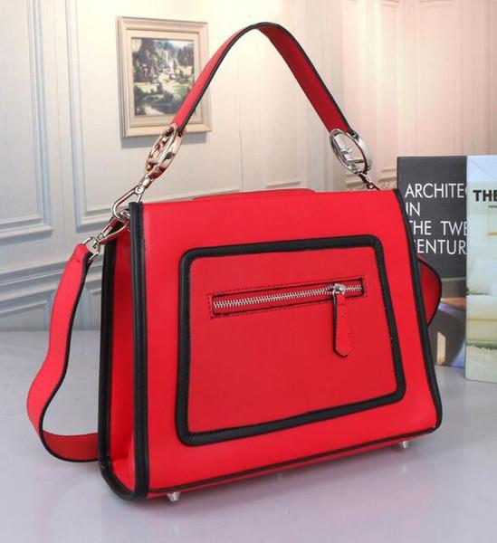 Красные сумки для женщин Большие дизайнерские женские сумки на ремне, ведро, портмоне, модные кожаные сумки большой емкости с верхней ручкой