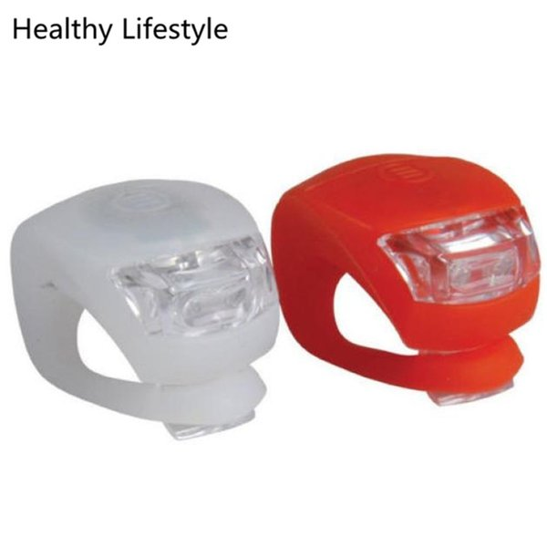2 x LED Bicycle Bike Cycling Silicone Head Front Rear Wheel Safety Light Sport Outdoor Bike Cycling Accessories Wholesale Feb 16 #635962