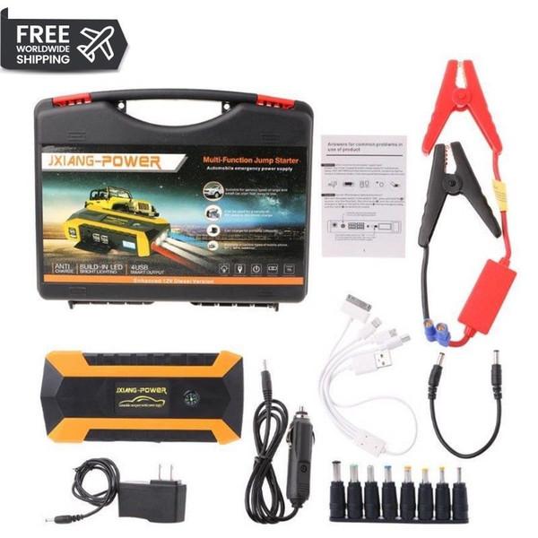 2019 89800mAh 4 USB portatile Auto Car Jump Starter Pack Booster Caricabatteria Bank Power Bank UK / AU Plug DC 12V