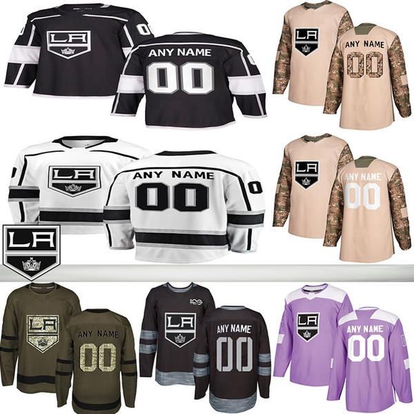 2019 Notícias Los Angeles Kings Hockey Jerseys Vários estilos dos homens feitos sob encomenda qualquer nome de qualquer número de Hockey Jerseys