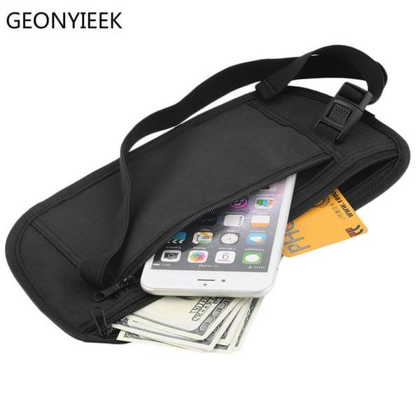 Cloth Waist Bags Travel Pouch Hidden Wallet Passport Money Waist Belt Bag Slim Secret Security Useful Travel Bags Chest Packs #31598