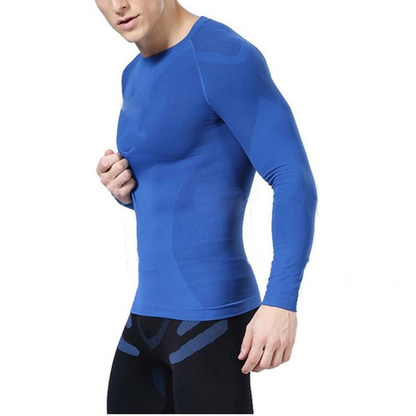 Mens Compression Under Base Layer Tops Tight Long Sleeve T-Shirts Gear Newest