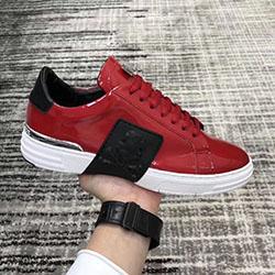 Top sapatilha dos homens Plataforma Sapatos Masculinos Arrive95 Top Estrelas Camada de luxo de couro de Rivet Casual Shoes EUR38-44 vw0514