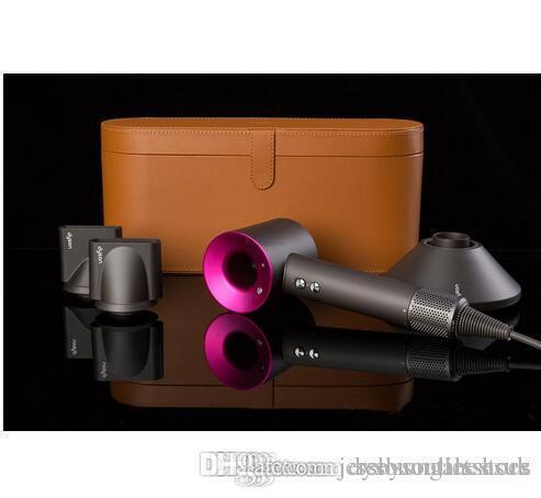 Caja de regalo Dysons Funda de cuero Secador de pelo Edición limitada Herramientas profesionales Secador de soplado Calentador de velocidad súper rápida con envío gratis