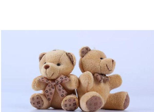Teddy Bear Eşarp Ile Peluş Bebek bebek anahtarlık Bebek Hediye Kız Oyuncaklar Düğün Atma Ve Doğum Günü Partisi Dekorasyon