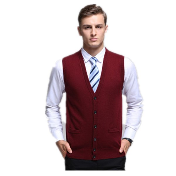 2018 New Arrival Autumn Clothing Cashmere Sweater Men Vests Wool Vest Knitted Mens Cardigans Sleeveless waistcoats