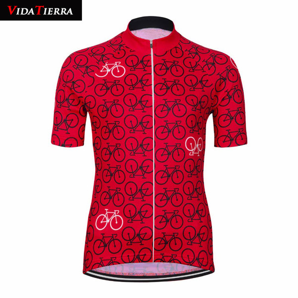 HOT 3 style suits cycling jersey 2019 VIDATIERRA men tops blue red black downhill jersey Outdoor sports pro team Clothing Summer classic