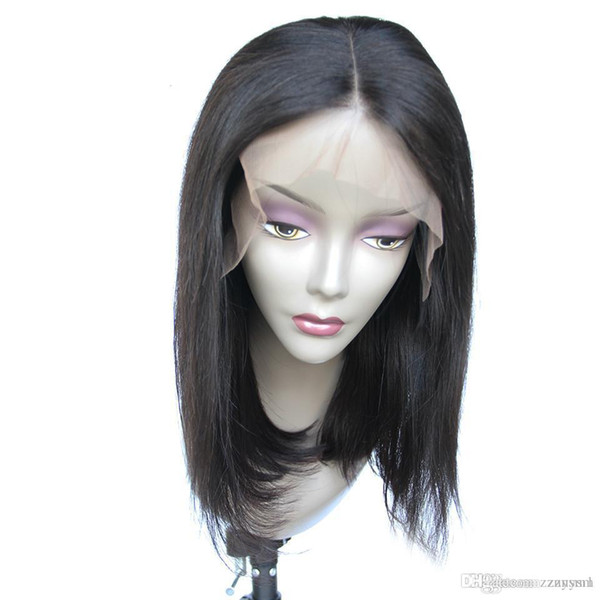 13*4 Short Front Hair Wigs For Black Women Brazilian Remy Hair Bob Wig With Baby Hair Pre Plucked Bleached Knot Luasy+wig net