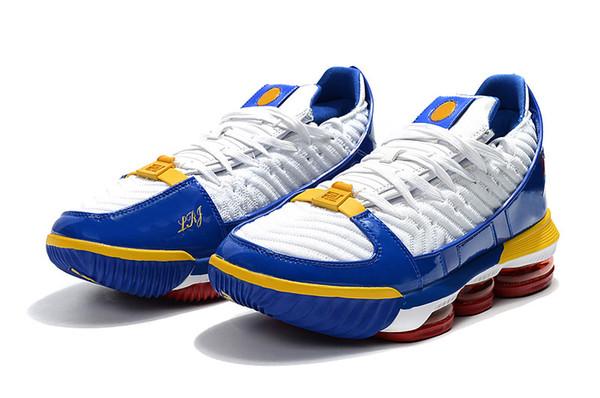 afd1f42cc9d Lebrons 16 SB SuperBron Men Basketball Shoes James 16s White Varsity Red  Varsity Royal Man Designer