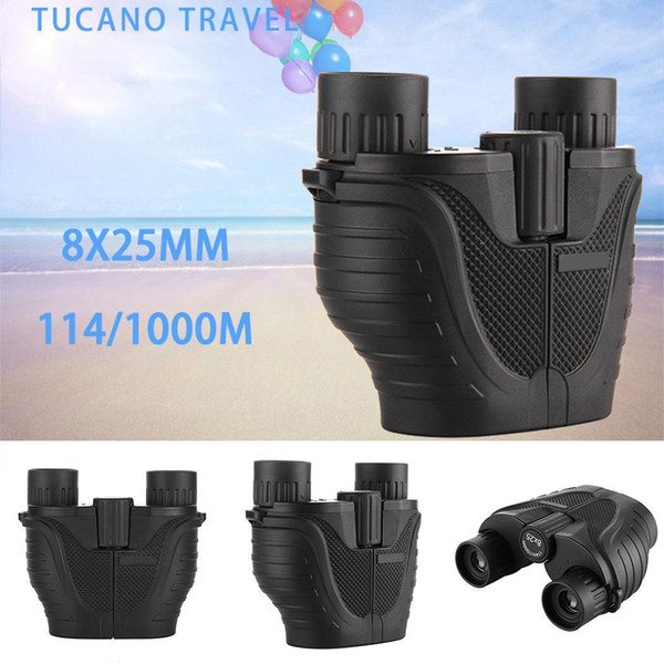 Outdoor Portable Full Optical HD Binoculars 8 times magnification 5m Kit 20mm BAK4 with Clear Wide-angle 25mm