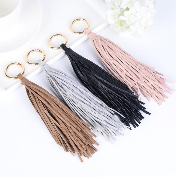 Fringed ring keychain car ornaments fashion female bag hanging ornaments small gift pendant You deserve it
