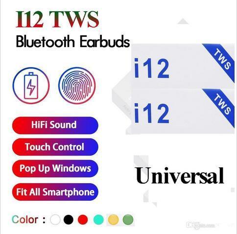 I12 tw bluetooth 5 0 wirele bluetooth headphone upport pop up window earphone colorful touch control wirele head et earbud
