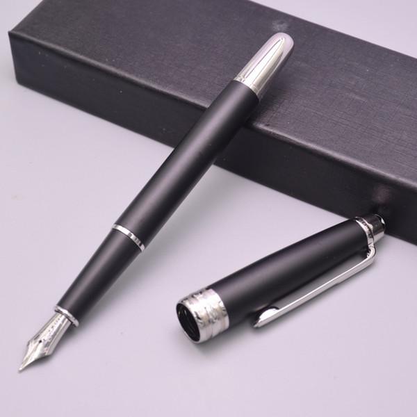 Nuevo MB de alta calidad mejor diseño de lujo 163 oro / plata Clip estilográfica para el mejor regalo útiles escolares oficina plumas de tinta fuente