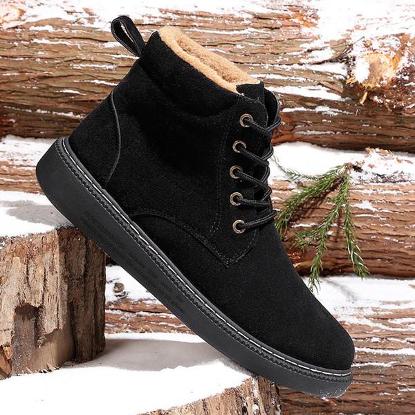 Mode Neue Winter Lässige Stiefeletten Super Warm Winter Pelz Schuhe Wasserdichte Regen Stiefel Schuhe Plüsch Männer Schnee Arbeitsschuh