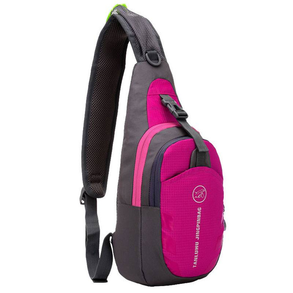 Knight 821 Water Repellent Outdoor Sports Cycling Chest Bag Rose Red single shoulder bag Travel Outdoors Sports Bags US Stock