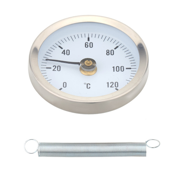 Hot sale 0-120 Degrees Stainless Steel Surface Weather Station Tester High Quality Thermometer Pipe Clip-on Temperature Gauge with Spring fr