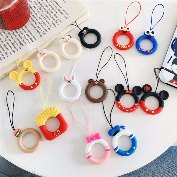 2019 Cartoon Cute Silicone Ring Short Pendant Mobile Phone Universal  Lanyard Key Creative Apple Small Hanging Jewelry For From Bright8888, $0 49  |