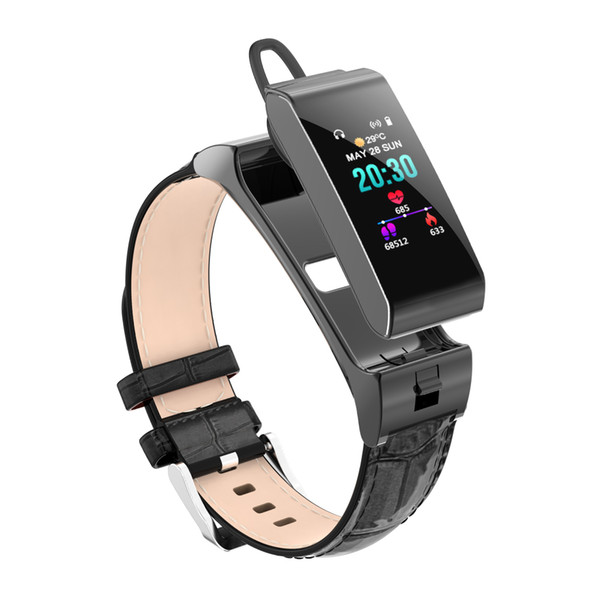 Smart Watch Bluetooth Earphone Headset Heart Rate Blood Pressure Fitness Bracelet Multiple SportS Activity monitoring Wristband