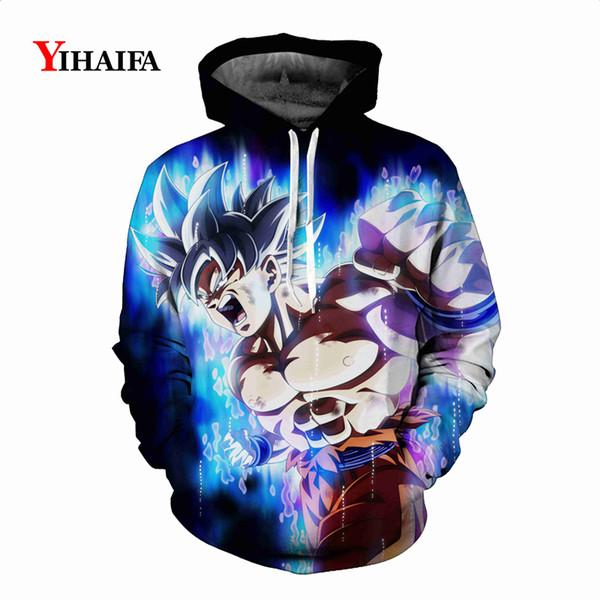 Newest Mens Womens 3D Sweatshirt Z Anime Hoodies Galaxy Roaring Goku Graphic Print Funny Cosplay Pullover Tops