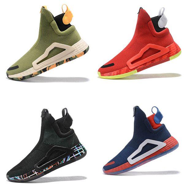 Marque N3XT L3V3L True Wild Intercalaire Gomme 5 Semelles Pro Vision pour Hommes Bottes de basket-ball sport baskets Ville Chaussettes Chaussures haut