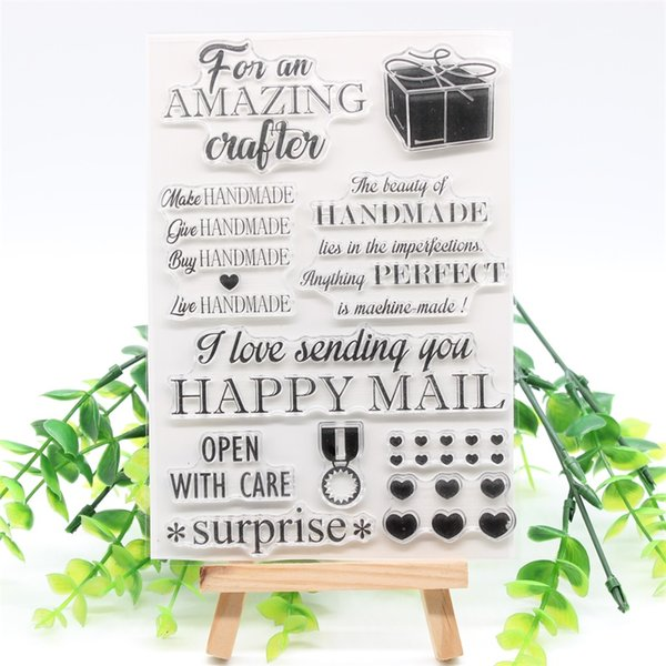 PP CRAFT Happy Mail Transparent Clear Silicone Stamps for DIY Scrapbooking/Card Making/Kids Crafts Fun Decoration Supplies 824 YPP CRAFT ...