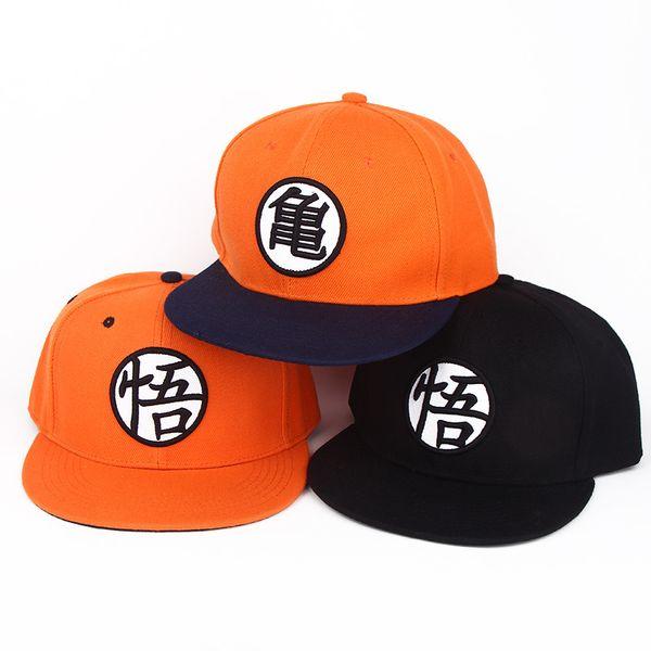 Usar boné de beisebol Dragon Ball Z Moda Goku Japão Anime ajustável Hat Plano Costume Snapback High Street