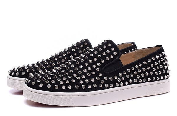 2019 moda studded spikes sapatos de cristal para as mulheres dos homens de glitter amantes do partido de couro genuíno sapatos casuais
