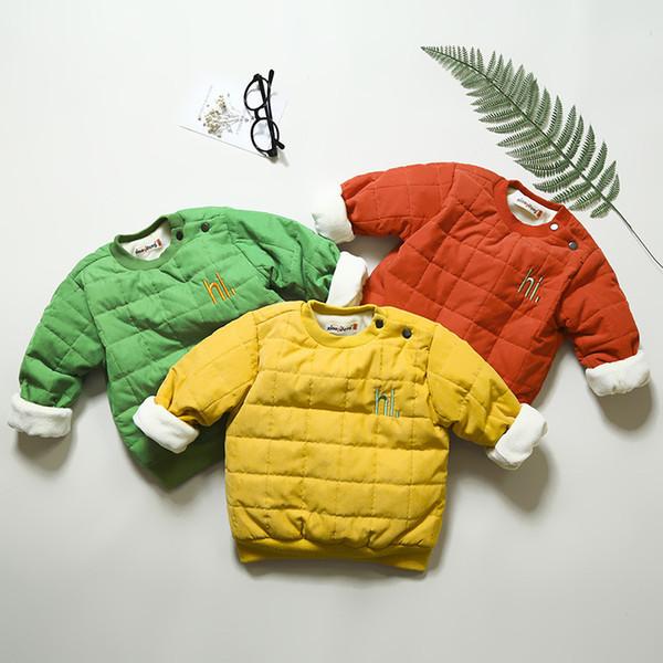 good quality winter boys hoodies fashion children cotton warm thick outwear kids fleece velvet long sleeve sweatershirt baby jackets