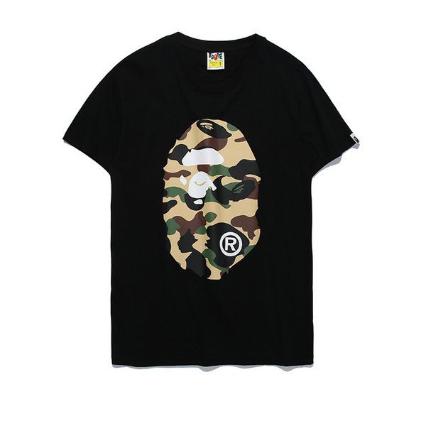 2018 Donne Vestiti Ape Tshirts Off Camouflage Cartoon Stampa T-Shirt Bianco Uomo Donna Casual Allentato A Bathing Aape Ape Manica Corta Magliette