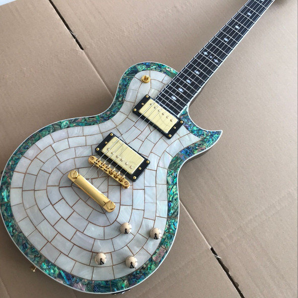Kostenloser Versand Neu. Standard benutzerdefinierte E-Gitarre, Handarbeit 6 Saiten Palisander Griffbrett Gitarre.