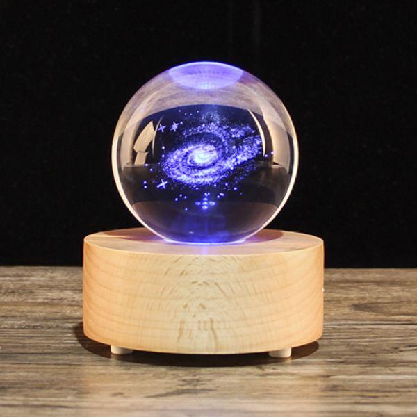 Рождественский подарок Снежный шар хрустальный шар музыкальная шкатулка, деревянный динамик Bluetooth