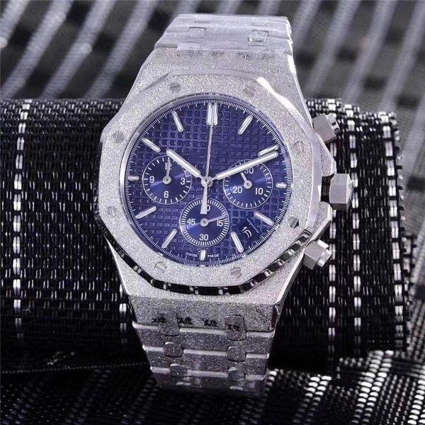 Reloj cronógrafo de 42 mm de lujo reloj mecánico automático de alta calidad diseñador de los hombres de acero inoxidable Relojes de pulsera Orologio di Lusso