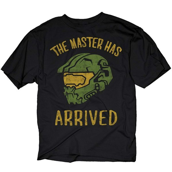 379ee670 Adult Black Video Game Halo The Master Has Arrived Master Chief T-Shirt Tee  100