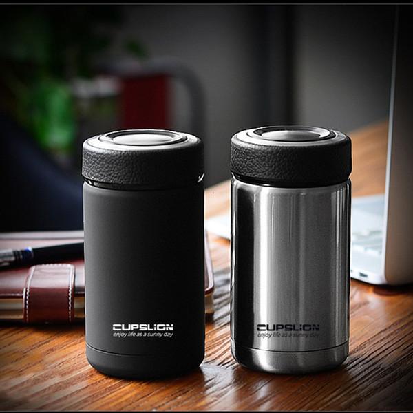 400мл Бизнес Стиль нержавеющей стали высокого качества термос Кружка автомобиль термосы Anti-Dust Кофе Чая Чашка Thermol бутылки вода T190923