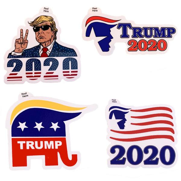 4 adet / takım Donald Trump 2020 Birleşik Devletleri Başkanlık Seçimi Dizüstü Etiket Kampanyası Destekleyen Sticker Ücretsiz Kargo