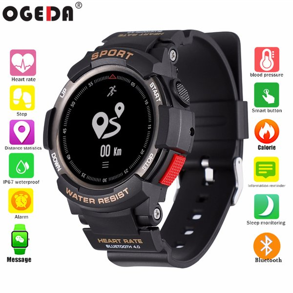 Men's Watches Watches Ogeda Fitness Smart Watch Men Women Pedometer Heart Rate Monitor Waterproof Ip68 Swimming Running Sport Watch For Android Ios