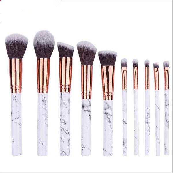 Maquillaje para cosméticos Maquillaje de mármol de alta calidad, pinceles de maquillaje profesional, 10 piezas de maquillaje
