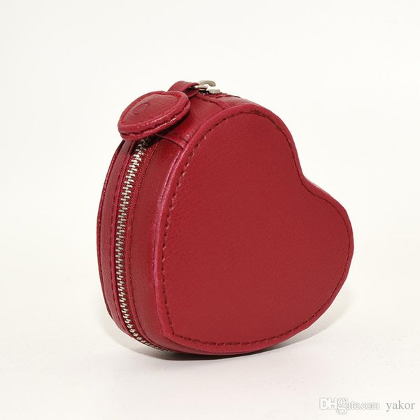 New arrival High quality Red PU leather heart-shaped Jewelry Box for Pandora Charms Bracelet Bangle Original Boxes