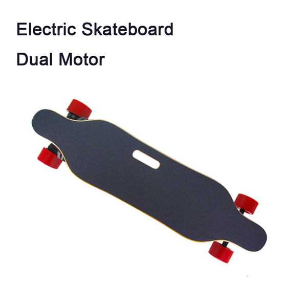 Super Electric Skateboard & Longboard T-Shade LED Lights 900 Watts Belts Dual Motors with Wireless Remote Controller Plate Board