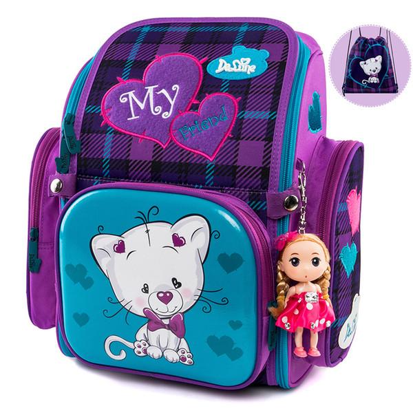37c6d42b6c5c0 2019 Delune New School Bags Cartoon Mochila Infantil Mochila escolar para  niños Mochila ortopédica Estudiante Satchel