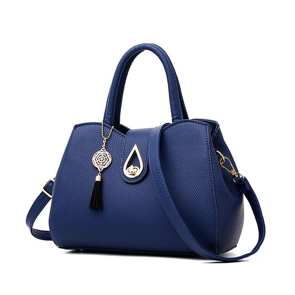 Wenyujh New Fashion Women Handbag Tassel High Quality Pu Leather Totes Bags Brief Women Shoulder Bag Ladies Bags