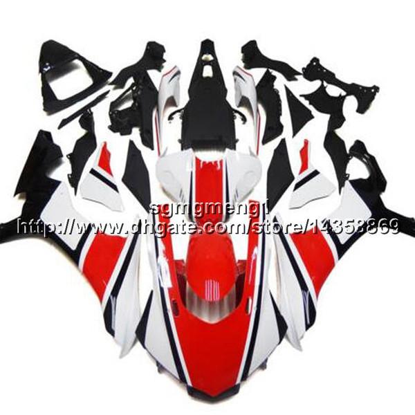 Custom + Screws Injection capucha motocicleta blanca roja para Yamaha YZF-R1 2015-2016 15 16 YZFR1 ABS carenados de motor