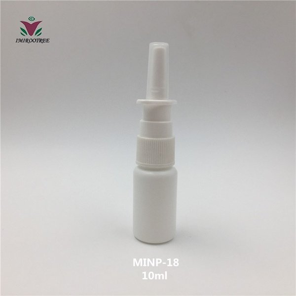 Free Shipping 100 sets 10ml Pharmaceutical Use Nose Nasal Mist Spray Bottle for medical packaging