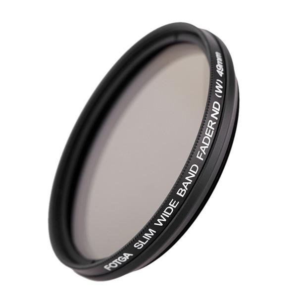 Fotga 49mm / 52mm Slim Fader Variabler ND-Filter Einstellbare Neutraldichte ND2 bis ND400 für DSLR-Kamera Digitalkamera Camcorder DV