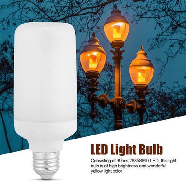 EUA Estoque Lâmpada LED 2 Modos de E27 Efeito de Chama LED Lâmpada de Incêndio Lâmpada de Cintilação Decoração de Natal