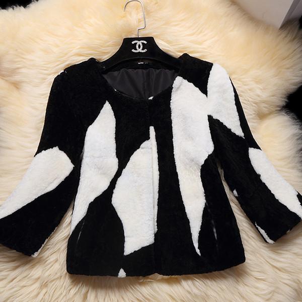 2019 natural Merino Sheep Fur coat women sheep shearing fur jacket winter thick sheep fur coat Free shipping F1122 Y190925