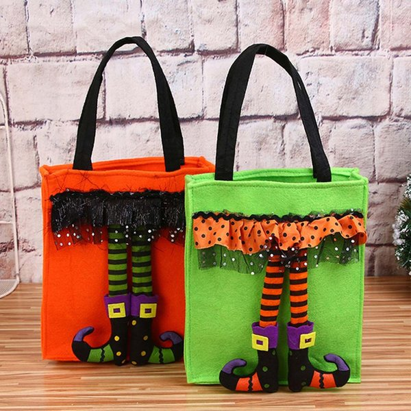 Funny Halloween Gift Bags Cute Witch Doll Candy Bag Creative Trick or Treat Bag Goodie Storage Holder for Kids