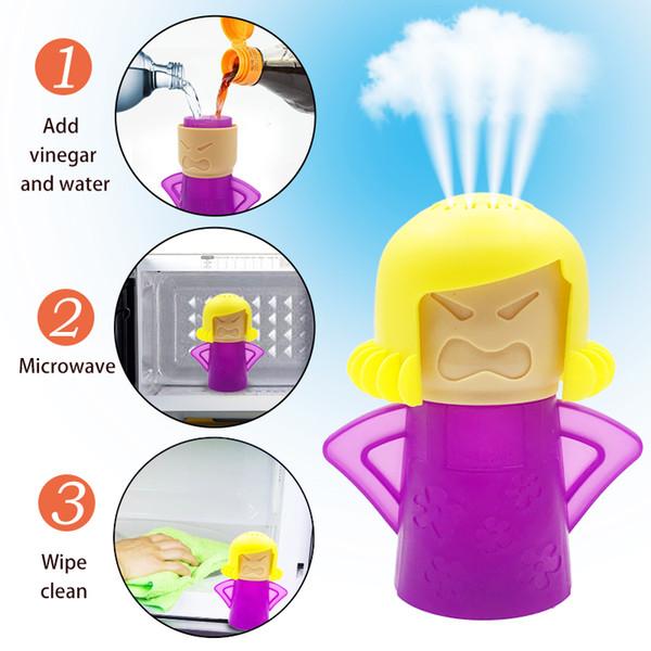 40pcs Angry Mama Microwave Cleaner Facilmente pulisce il forno a microonde Apparecchi di pulizia a vapore per la cucina Strumenti di pulizia del frigorifero