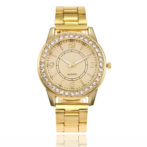 2019 new fashion ladies watch rose gold steel bracelet bracelet diamond men and women quartz watch luxury high quality ladies ring